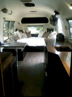 Airstream Interior Design Ideas 1968 Airstream Bambi travel trailer with a beautiful custom interior Airstream Bambi, Airstream Vintage, Airstream Campers, Airstream Interior, Airstream Remodel, Airstream Renovation, Trailer Interior, Remodeled Campers, Airstream Decor