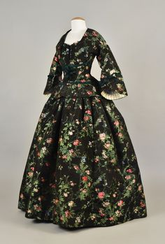 Dress ca. 1860    From Whitaker Auctions