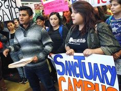 Sanctuary Campus Protest - AP File Photo by Nathan Lambrecht-The Monitor