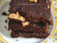 Recetas Veganas: Brownies veganos de porotos/frijoles negros (Sin harina)