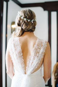 Gorgeous lace details | Montauk Yacht Club Wedding from Brklyn View Photography  Read more - http://www.stylemepretty.com/new-york-weddings/2013/08/29/montauk-yacht-club-wedding-from-brklyn-view-photography/