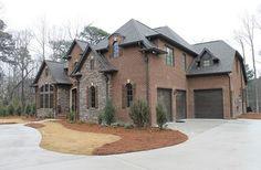Home Sweet Home - traditional - exterior - birmingham - Rusert Custom Homes - stone and brick combination