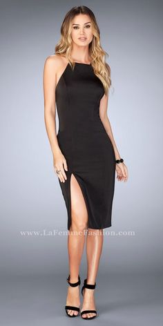 191f66db0fa74e Get ready for your picture perfect close up in this Spaghetti Strap Open  Back Knee Length