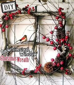 DIY Whimsical Window Christmas Wreath – Top Easy Design Project For Party Decor - Way To Be Happy (2)