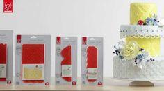 Ecco come creare dolci decorazioni a rilievo con i nuovissimi stampi in silcone Design Mould di Modecor Italiana