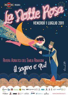 "Locandina ""La Notte Rosa 2011"""