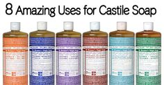 8 Amazing Uses For Chemical-Free Castile Soap - Healthy Holistic Living; I've learned a few new ones for this - definitely going to try it for my delicates instead of Woolite (in the comment section)!