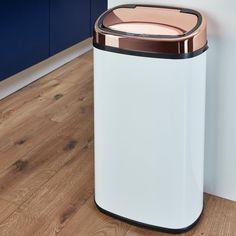 Tower 58L Sensor Bin - Rose Gold & White