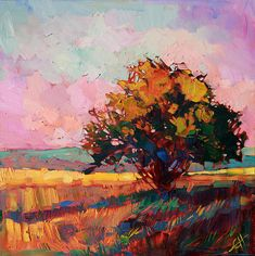 Light Alone Painting by Erin Hanson #landscape #tree #art