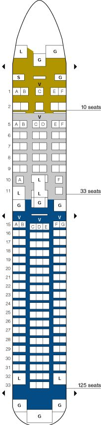 United Airlines Boeing 757 200b Seating Map Aircraft Chart Commercial