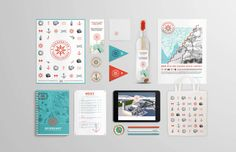 Fantastic… fresh colors and nautical… fun!  Sukkerbiten - Visual Identity by Martine Strøm, via Behance