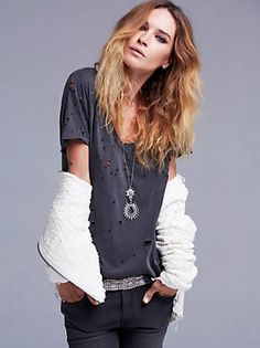 Free People Destroyed Tommy Tee, $58.00