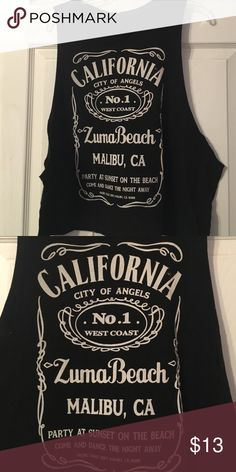 California muscle tee Black cotton muscle tee Brandy Melville Tops Muscle Tees