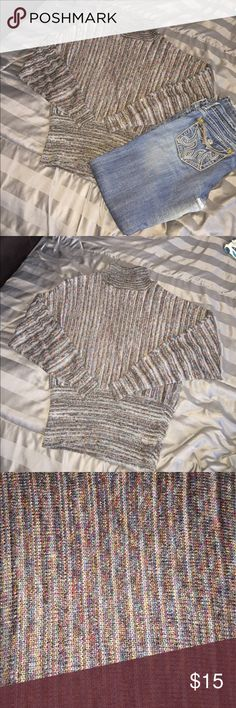 💜NICE BABETTE BALLING NEW YORK SWEATER S💜 THIS IS A BEAUTIFUL SWEATER.  IT IS MIXED IN WITH NICE COLORS.  VERY WARM AND COZY.  GREAT FOR THE COLD NIGHT OUTS! BCBGMaxAzria Sweaters Cowl & Turtlenecks