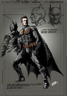 The design of Ben Affleck Batman by Steve Scott