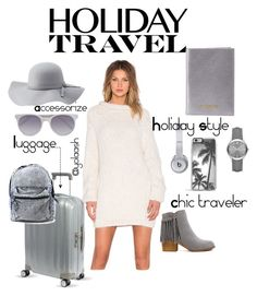 """Holiday Travel✈️"" by yolaash on Polyvore featuring Samsonite, AYNI, Neiman Marcus, Charlotte Russe, Prism, Zero Gravity, Beats by Dr. Dre and Burberry"