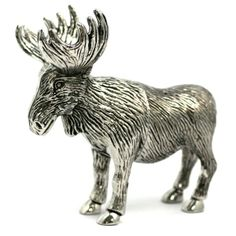 Moose - Metal Salt & Pepper Shakers