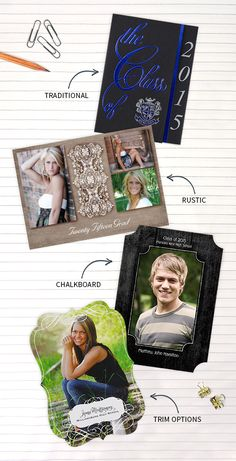 Graduation is coming up! Check out these top trends for graduation announcements.
