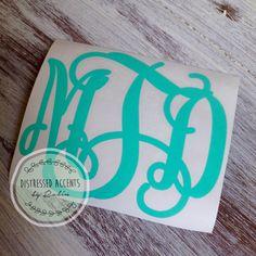 VINE Monogram Vinyl Decal - pinned by pin4etsy.com
