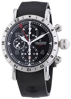 Chronoswiss Timemaster GMT Men's Automatic Watch with Black Dial Chronograph…