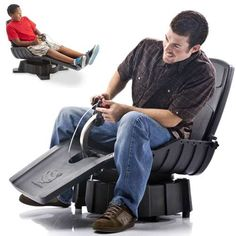 Gyroscopic Video Game Seats - The X-Dream GYROXUS PS3 Gaming Chair Lets You Feel it All (GALLERY)