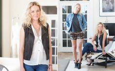On Rachael: •Shorts- Pendleton Coquille print shorts •Top- vintage black leather with side cut out  On Mackenzie: •Top- Laila and savannah white blouse •Vest- Joseph leather vest •Jeans- Banana Republic
