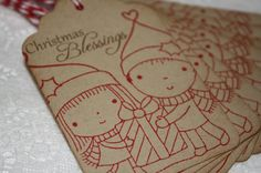 Handmade Vintage Style Christmas Gift Tags  Mimi and  by wkburden, $3.99