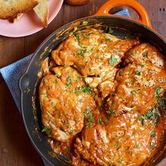 Chicken in Deviled Gravy / rachel ray Turkey Recipes, Chicken Recipes, Dinner Recipes, Dinner Ideas, I Love Food, Good Food, Yummy Food, Food Network Recipes, Cooking Recipes