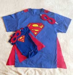 New Dad Gift Set or New Big Brother, Superman T-Shirt with Cape and Superhero Baby Outfit with Cape and Mask, Father Son Super Hero Costume – Cute Adorable Baby Outfits Superman T Shirt, Superhero Superman, Superhero Capes, Batman, Baby Outfits, New Big Brother, Daddy Day, Daddy Daughter, Baby Kids
