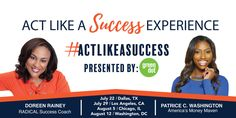 WIN 2 TICKETS TO THE ACT LIKE A SUCCESS EXPERIENCE - DALLAS, TX!Attending the Act Like A Success Experience, you will be a part of a no-holds-barred coaching experience from two leaders who know what's it's like to move from being stuck in park to gaining massive momentum and creating your dream life.Be equipped with powerful concepts, strategies, tools and a personalized action plan to achieve that next level of success in your career, business, finances and personal growth.TO ENTER…