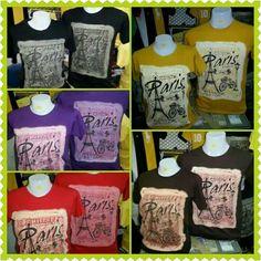 Tshirt PARIS SIZE S.M.L.XL