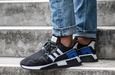 hot sale online ae273 56c01 ADIDAS EQT CUSHION ADV BLACK, WHITE  ROYAL LIMITED EDITION SNEAKERS ALL  SIZES adidas RunningShoes