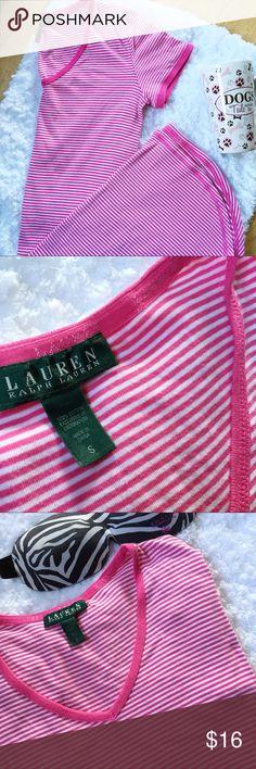 Ralph Lauren sleep shirt Cute pink and white striped sleep shirt. I wore this as a t-shirt dress a few times. EUC from non smoking home. Lauren Ralph Lauren Intimates & Sleepwear