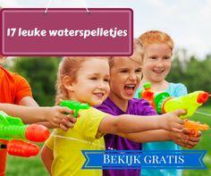 Is het warm buiten? Bekijk dan snel deze 17 verfrissende en leuke waterspelletjes voor kinderen. Dikke pret gegarandeerd!