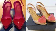 أحذية المناسبات مزينة بقلوب الحب - نصف الدنيا
