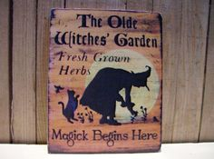 Witches Garden Miniature Wooden Plaque 1:12 scale by LeClosDesLavandes on Etsy https://www.etsy.com/listing/171227741/witches-garden-miniature-wooden-plaque