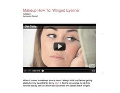 Lauren Conrad shows you how to get her famous winged eyeliner look.