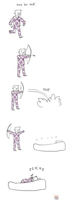 Ginger Haze: Hawkeye loves arrows!