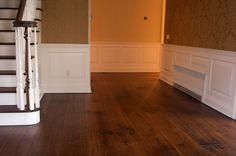"""10"""" light rustic walnut planks with end pegs from aifloors.com Walnut Wood Floors, Hardwood Floors, Flooring, Concrete Wood, Planks, Tile Floor, Rustic, Home, Wood Floor Tiles"""