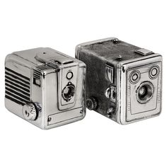 cool fake old cameras. bookends?