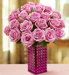 Passion for Purple Roses- Lush #rose bouquet in a royal shade of purple, available in bouquets of one dozen and two dozen $34.99- $64.99