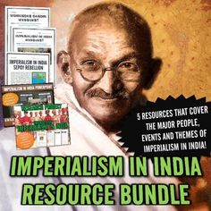 Imperialism in India - Resource Bundle (PowerPoint, Project, Webquests) - This is a detailed and exciting unit that covers the topic of Imperialism in India. With a focus on student-centered learning and with the possibility of differentiation, this unit will be a versatile tool in your classroom. It uses a wide variety of strategies and tools and the main topics related to imperialism in India, such as: Sepoy Mutiny, Mughal Empire, Gandhi and Indian Nationalism and much more!