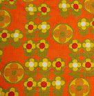 1960s cotton barkcloth (slightly faded)