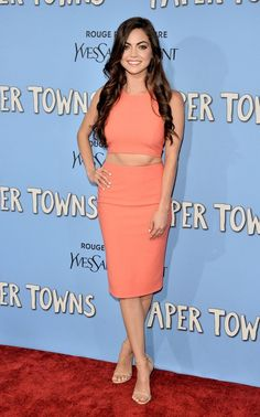 Caitlin Carver At the Paper Towns film premiere, New York