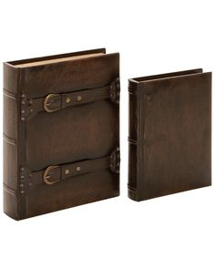 Spotted this Set of 2 Leather Books on Rue La La. Shop (quickly!).