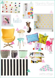 Petite Vintage Interiors Niamh's Mum wanted a room for her 4 year old designed around the incredible Kip & co bedding that I featured a few weeks ago. I was also under strict instructions to stay away from pink! I hope Niamh is very happy in her modern, stylish room.