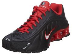 3d2f0b484ae Buy Nike Shox R4 Mens 104265-063 Black Red Running Shoes Athletic SNEAKERS  Size 7.5 online