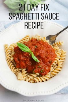 Today I have a great recipe to share with you. This healthy spaghetti sauce recipe is delicious. It's a 21 Day Fix spaghetti sauce so I can enjoy it without destroying my container counts for the day! Healthy Spaghetti Sauce | 21 Day Fix Spaghetti Sauce |