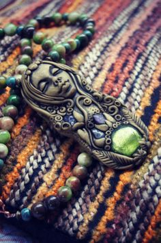 Inner Peace Goddess Necklace  OOAK  Handcrafted  Free by TRaewyn,