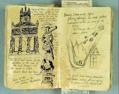 A page from the Grail Diary from Indiana Jones
